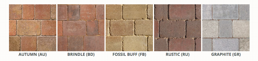 cobble paving colours