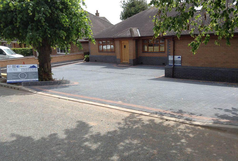 New Block Paving Driveway in Ibstock