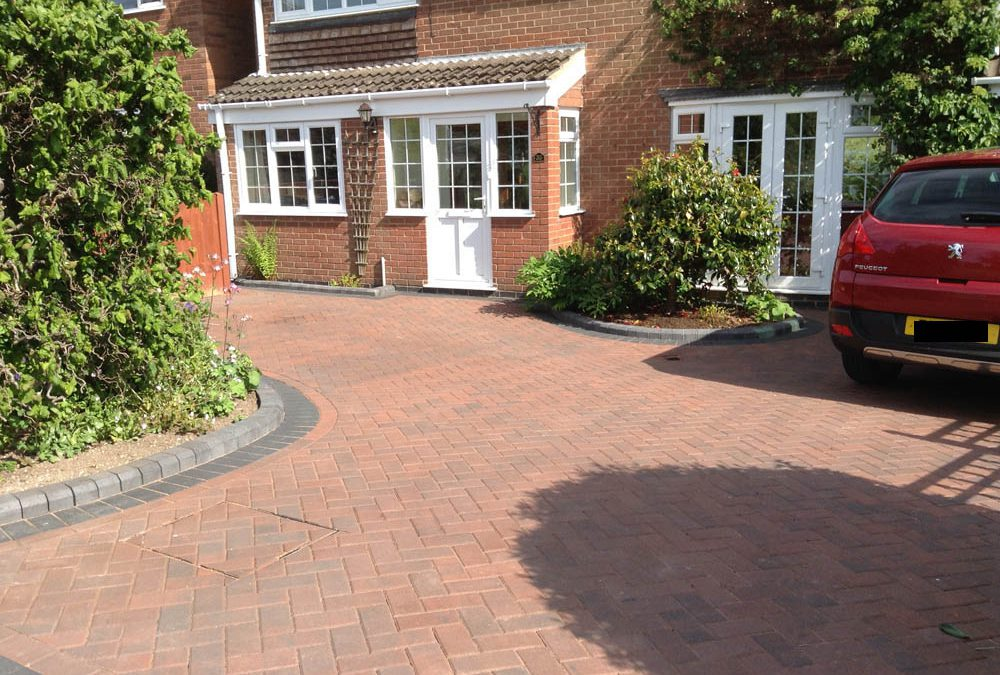 New Block Paving Driveway in Market Bosworth